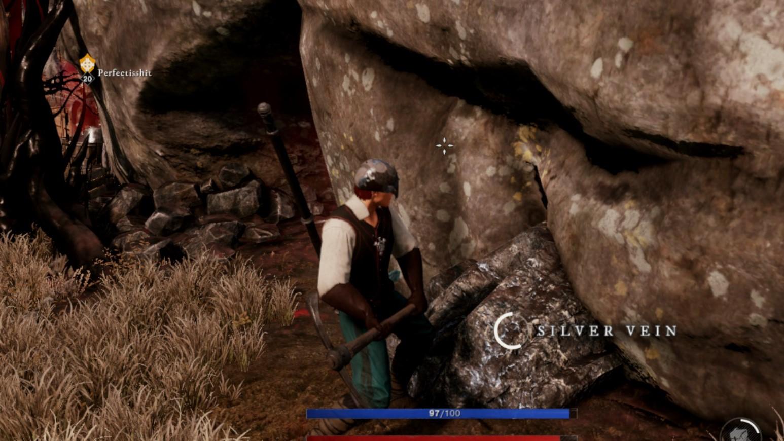 New World Farming Silver Ore in Canary Mine 3