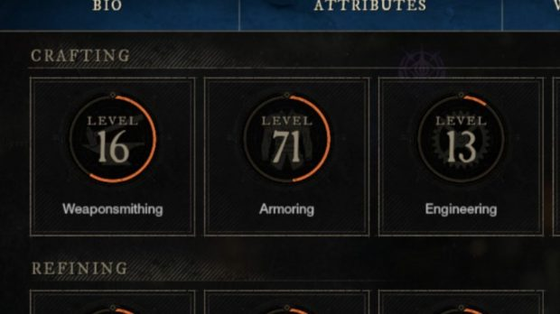 Level up Armoring in New World